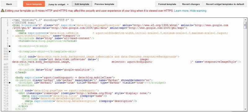 Blogger Template Setting Facility - BLOGGER BEGINS
