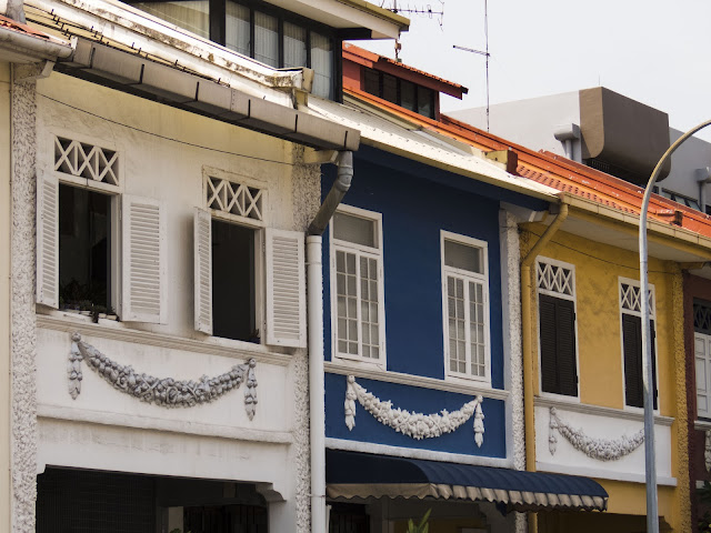 Peranakan houses near Katong Joo Chiat in Singapore