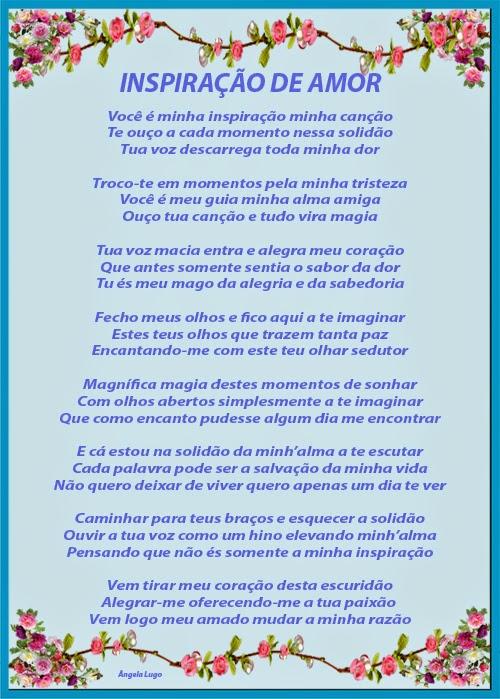 INSPIRAÇÃO DE AMOR