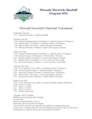 Missoula Mavericks Memorial Tourney