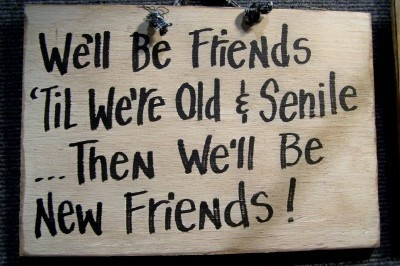 Funny Old Senile Friends Sign