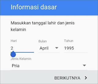 Cara Membuat Email Gmail di Android 8
