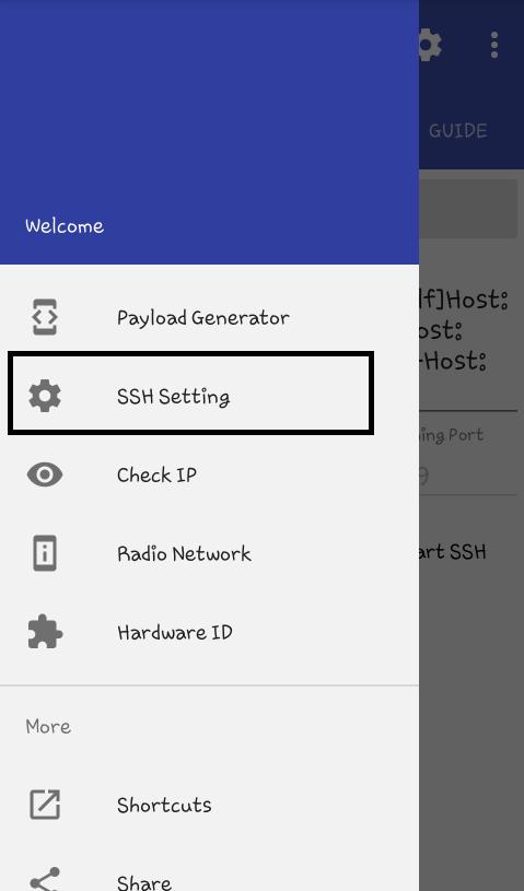 Setting SSH Menggunakan HTTP Injector di Android