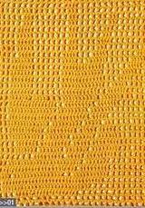 Patrón #1573: Pájaro Punto en Red a Crochet