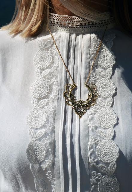 boho gold pendant
