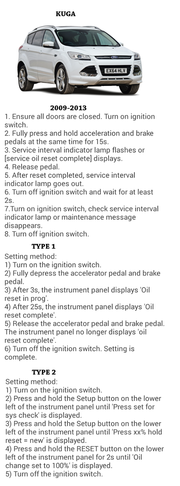 Complete oil reset guide for ford cars ford kuga