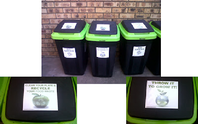 Compostable packaging is collected