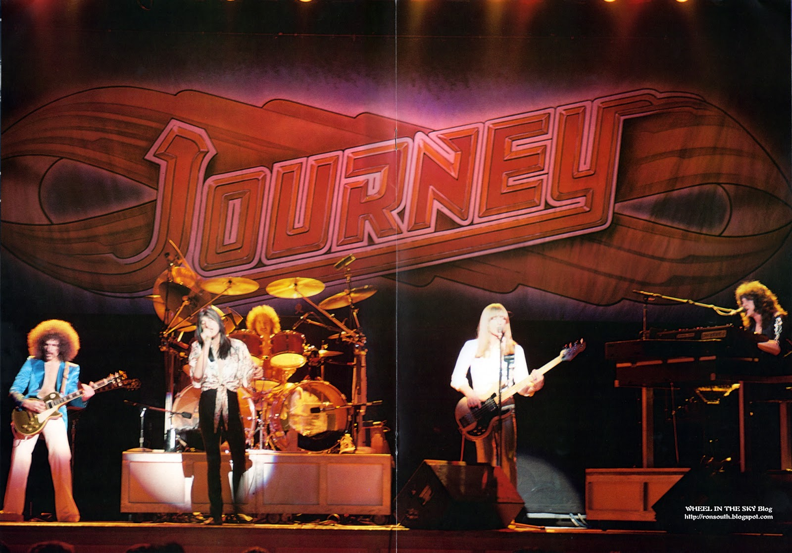 wheel in the sky journey tour book 1979 centerfold poster. Black Bedroom Furniture Sets. Home Design Ideas