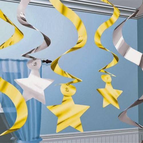 Espirales de papel metálico para decorar tus fiestas