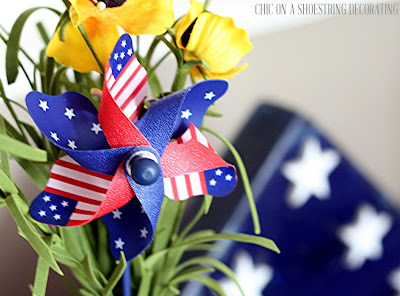 4th of July Decorations Independance Day Decor by Chic on a Shoestring Decorating