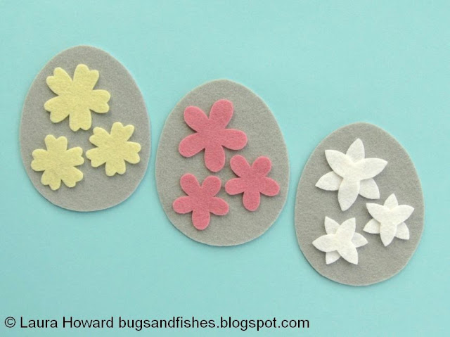 cutting out the felt flower pieces