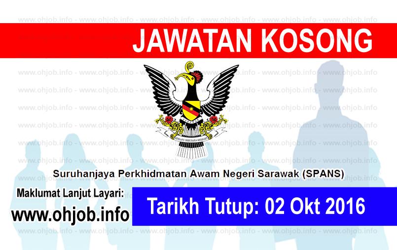 Jawatan Kerja Kosong Suruhanjaya Perkhidmatan Awam Negeri Sarawak (SPANS) logo www.ohjob.info oktober 2016