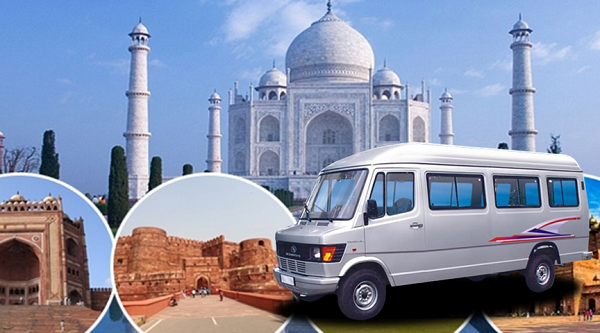 Excellent Tempo Traveller on Rent service from Delhi to Agra Tour Package
