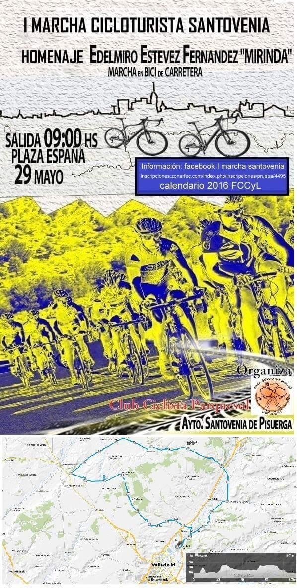 Fccyl Calendario.Runvasport I Marcha Cicloturista Santovenia 29 05 2016