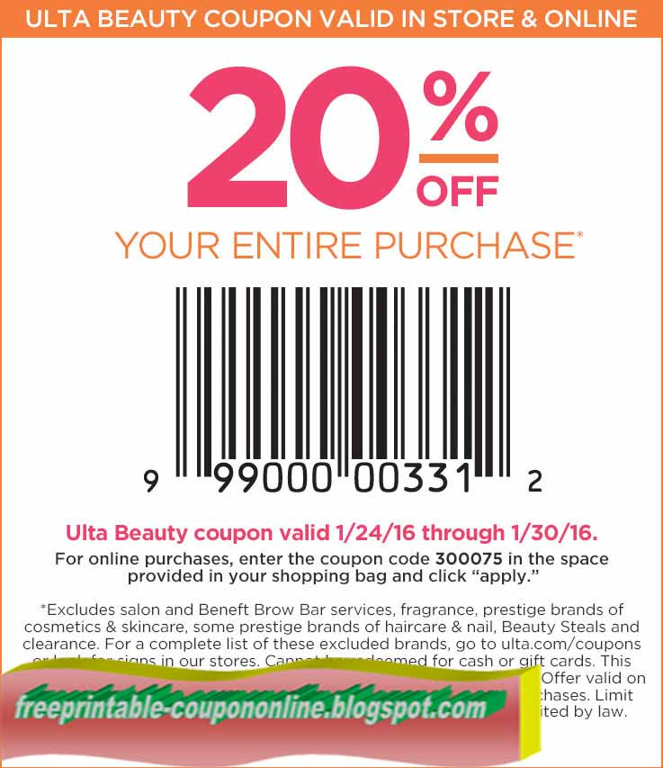 ulta  coupon april