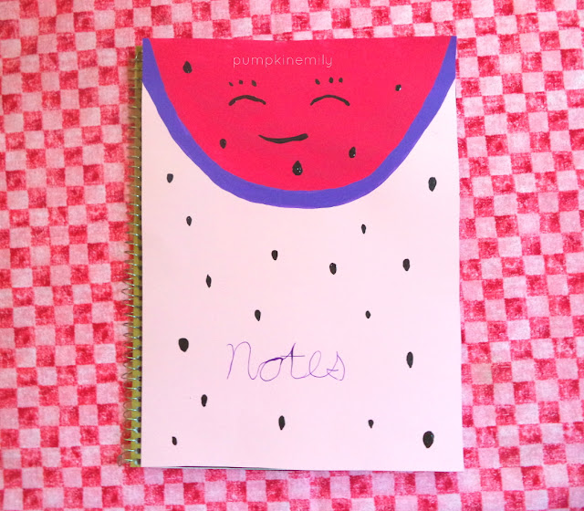 Notebook Cover Idea Watermelon Notebook