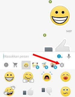 Cara hilangkan menu Stiker BBM android