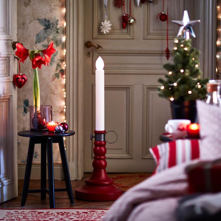 candelabros, guirnaldas, adornos navideños Ikea 2016