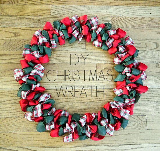 Christmas Ribbon Wreaths.Kristina Does The Internets Diy Christmas Ribbon Wreath