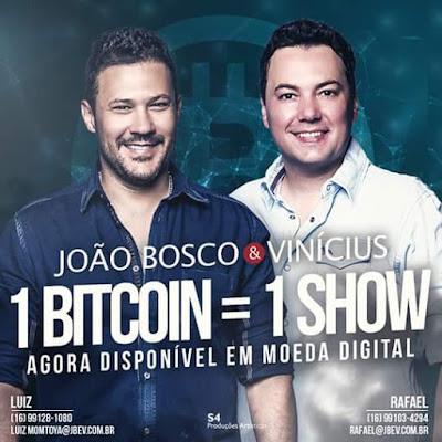 João  Bosco e Vinícius vendem show por Bitcoin