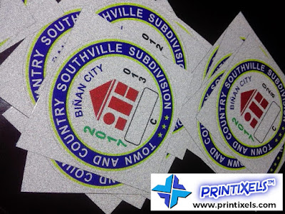 Reflective Vehicle Stickers for Southville