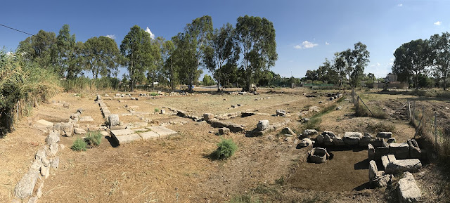 2018 excavations of the South Palaestra in Eretria, Greece