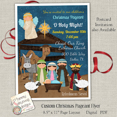 Christmas pageant flyers