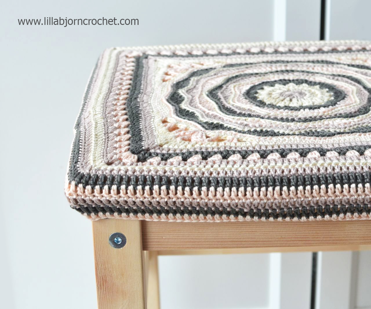 "Oceanic Rose: My first 12"" afghan square design 