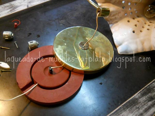 Pulido de piezas de bronce