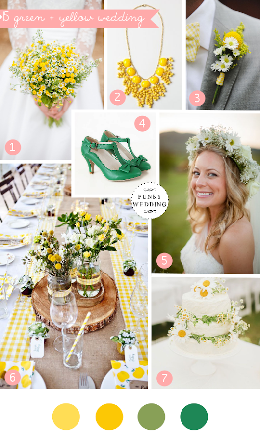 Inspiration board #15: green + yellow wedding
