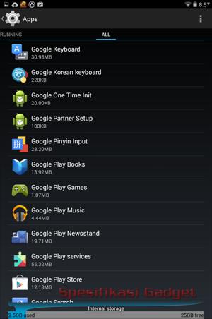 daftar semua aplikasi yang terpasang