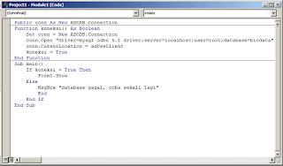 koneksi di vb 6.0 dan mysql dengan ADODB