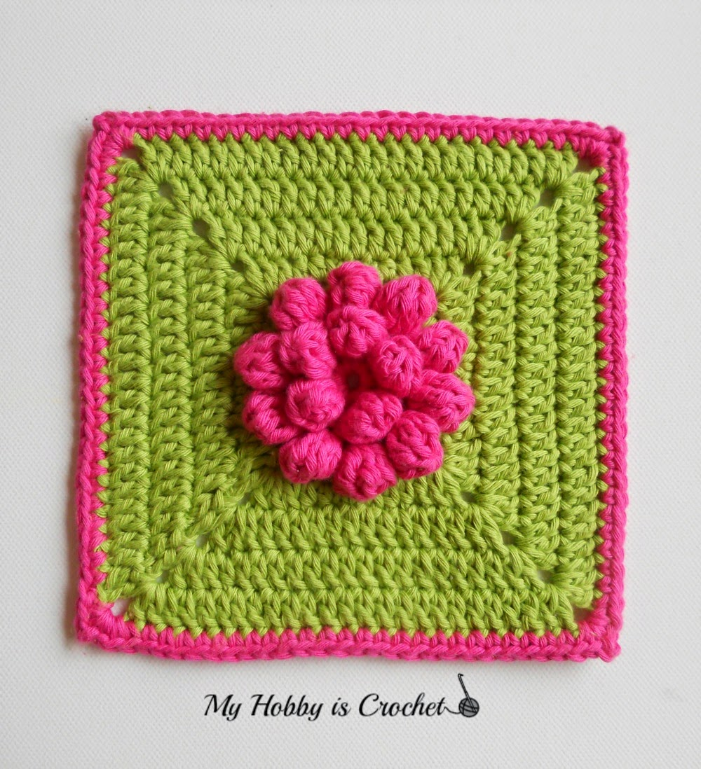 Dahlia Granny Square -  Free Crochet Pattern with Tutorial on myhobbyiscrochet.com