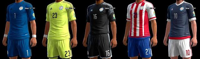 PES 2013 Paraguay Kit Copa America Centenario 2016