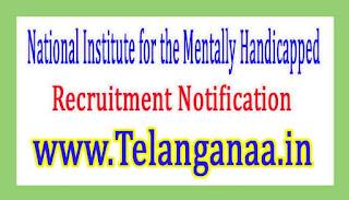 National Institute for the Mentally HandicappedNIMH Recruitment Notification 2017