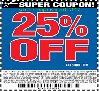 free Harbor Freight coupons march 2017