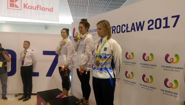 Ye-sol Jang dio a Corea del Sur la primera medalla de oro en Breslavia 2017 en la Natación con aletas