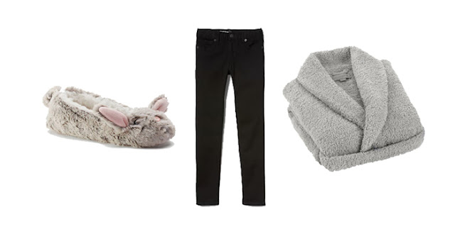 Bunny Slippers, Gap Girlfriend Jeans, Fuzzy Bathrobe, College Blogger, Lifestyle Blogger