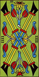 quatre de bâton à l'envers