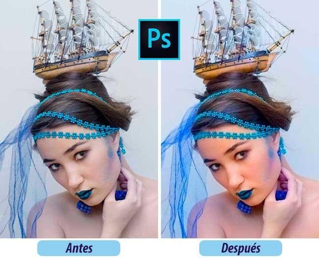 Colores más Intensos con Photoshop Antes y Después