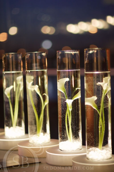 Sonal J Shah Event Consultants LLC Modern Calla Lily Centerpieces