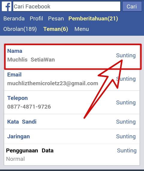 Cara Membuat Nama Facebook Dengan 2 Dua Huruf Saja Awcyber