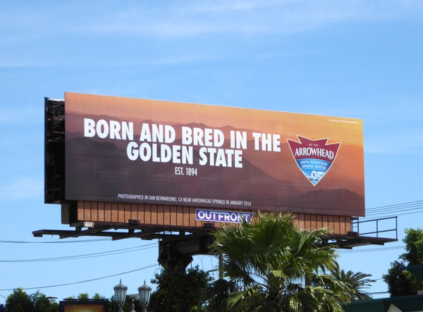 Arrowhead Born bred in Golden State billboard