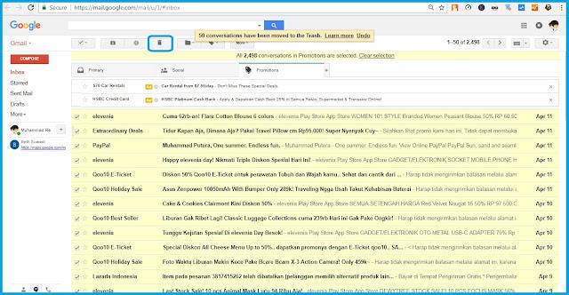 Cara Menghapus Semua Email Masuk Sekaligus