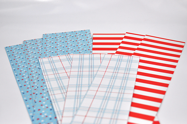 Patriotic Party Fans by Jen Gallacher from www.jengallacher.com. #partyfan #4thofjuly #patrioticcraft #papercraft #jengallacher