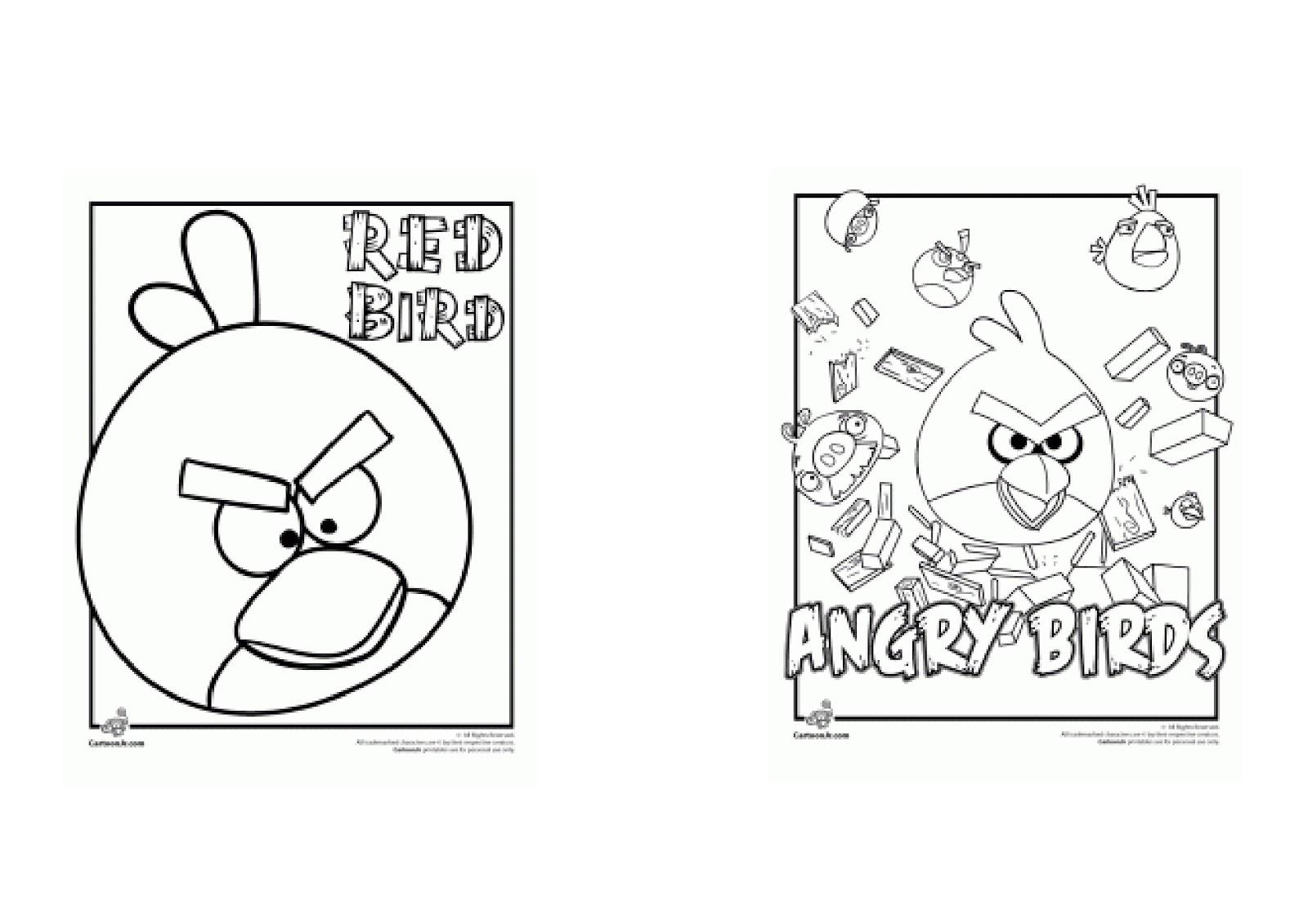 Angry Birds Para Colorir E Imprimir: Fazendo A Minha Festa Para Colorir: Angry Birds