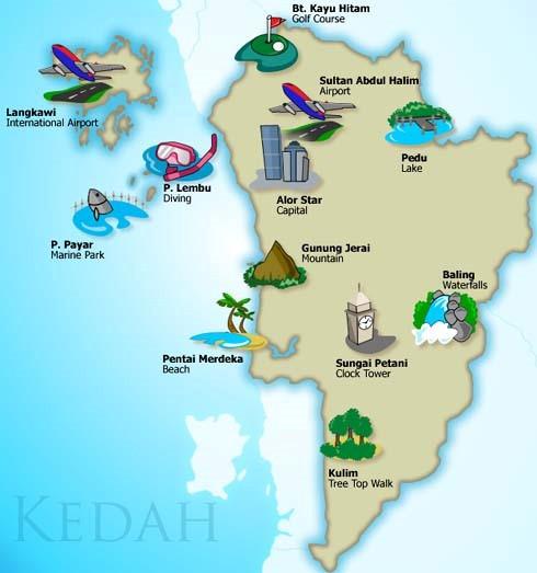 Senarai Lokasi Menarik Di Kedah
