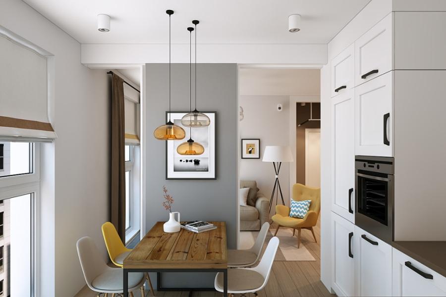 wystrój wnętrz, wnętrza, urządzanie mieszkania, dom, home decor, dekoracje, aranżacje, styl skandynawski, scandinavian style, ciepłe kolory, kuchnia, kitchen, białe szafki
