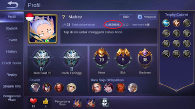 Game ID Mobile Legend