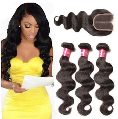 Lace Closure + Brazilian Virgin Body Wave by Longqi Beauty